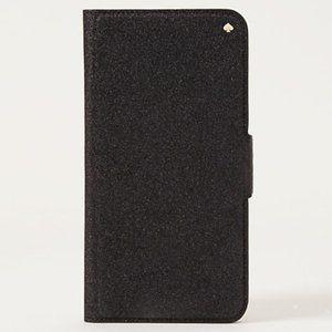 Kate Spade Glitter Folio Wallet iPhone XS MAX case